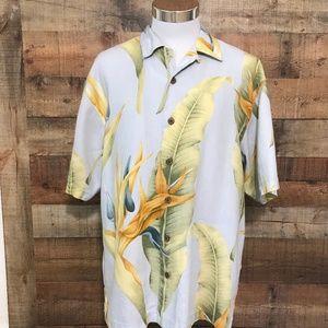 Tommy Bahama Men's 100% Linen Hawaiian Shirt L